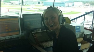 Granada's Mel Barham takes charge of air traffic control.....