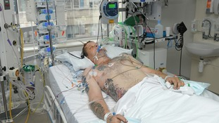 Darren Wyatt in hospital