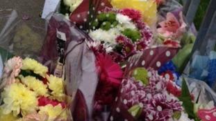 Flowers outside the school