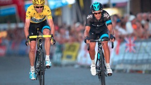 Richie Porte (right) acted as a domestique for Chris Froome in the 2013 Tour