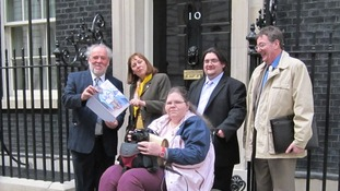 Save Lincolnshire Libraries Campaigners in Downing Street