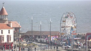 Crowds at Scarborough at Easter