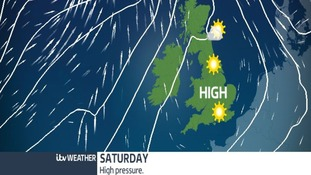 High pressure is expected for the weekend bringing fine weather.