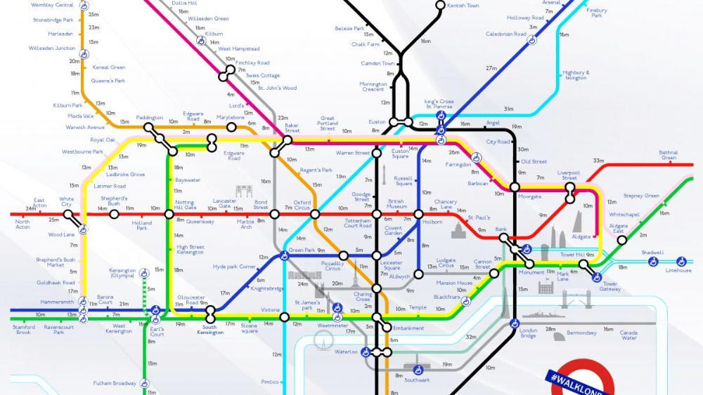 beat the tube strike walking distance between stations outlined in new map london itv news
