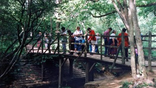 Pooh Bridge is popular with Winnie-the-Pooh enthusiasts.