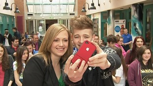 ITV News Anglia's Emily Knight poses for a picture with Bailey.