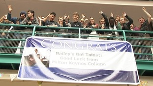Bailey's fellow students are backing him to go far in the competition.