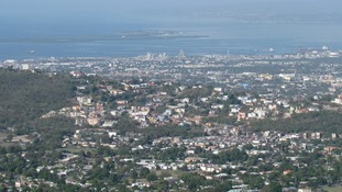 The Jamaican capital, Kingston.