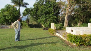 A monument stands at Seville Great House - Jamaica's first plantation - to slaves whose remains were discovered just decades ago.