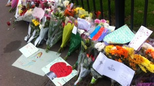 Flowers laid at scene