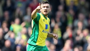 Robert Snodgrass celebrates scoring against Liverpool.
