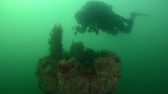 The underwater dive trail was launched by english heritage and