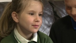 Children praised by charity for courage
