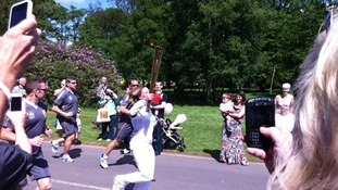 The torch arrives at the safari park