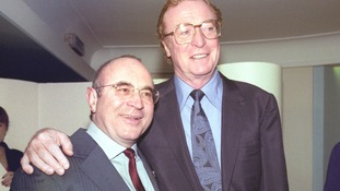 Pictured with Michael Caine in 1996.