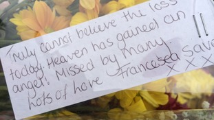 Tributes left at Corpus Cristi Catholic College