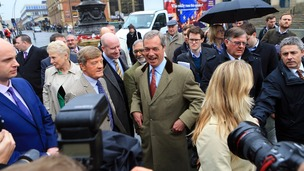 Ukip leader Nigel Farage at the launch of his party's European election last week.