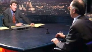Jeremy Paxman, pictured in his famous 1997 interview with Michael Howard, has quit Newsnight after 20 years as presenter.