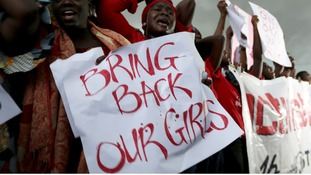 A protest outside Nigeria's parliament in Abuja demanding security forces to search harder for 200 schoolgirls abducted two weeks ago