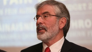 Sinn Fein leader Gerry Adams said he is 'innocent of any part in the abduction, killing or burial of Mrs McConville'.