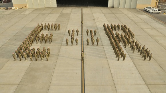 The RAF's 902 Expeditionary Air Wing in the Middle East.