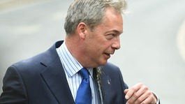 Nigel Farage hit by egg during Nottingham visit