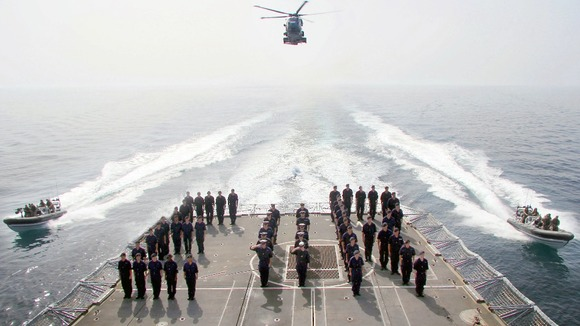 Sailors on HMS Westminster.