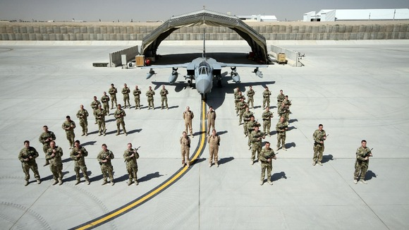 The Royal Air Force at Kandahar Airfield, Afghanistan.