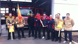 Firefighters walk out on strike