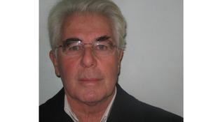 Max Clifford's mugshot upon first being taken into police custody.