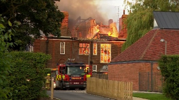The school has to be rebuilt after the 2012 fire credit itv news