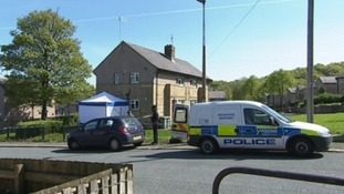 Scene of murder in Huddersfield