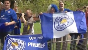 Banners read: 'We are Premier League'