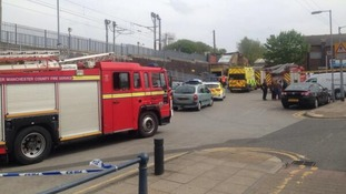 Emergency services were called to Prestwich tram stop