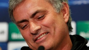 Chelsea Manager José Mourinho smiling during a press conference