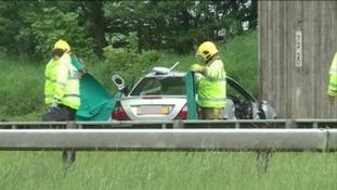 Car crash on the A69