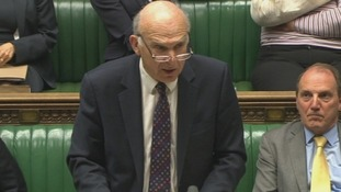 Business Secretary Vince Cable addresses MPs in the House of Commons.