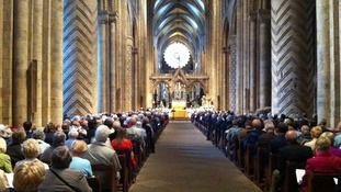 Thanksgiving service at Durham Cathedral