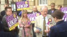 Roger Helmer in Newark today