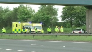Ambulances attending a crash