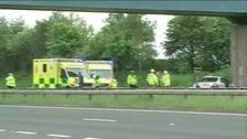 Ambulances attending a crash
