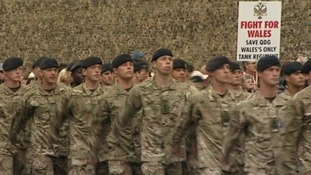 1st The Queen's Dragoon Guards' homecoming parade in Cardiff