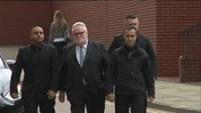 Paul Flowers arriving at Court in Leeds