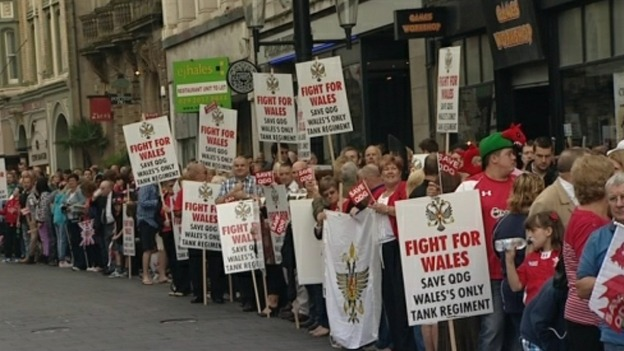 Protests to save 1st the Queen's Dragoon Guards