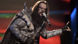 Finnish entry Lordi won in 2006 with Hard Rock Hallelujah.