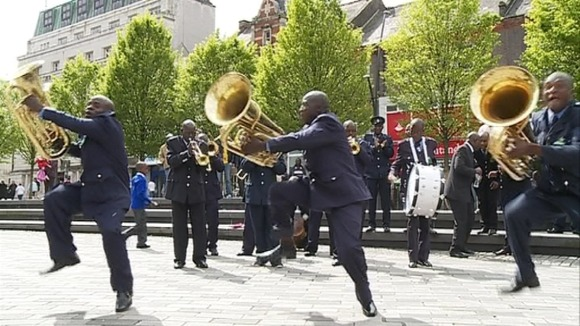Twelve members of the ZCC Brass Band have travelled all the way from    Zcc Brass Band
