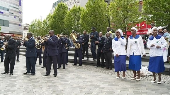 ZCC Brass band performing in Luton Credit  ITV News AngliaZcc Brass Band