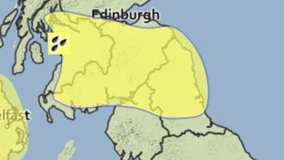 Warning for heavy, thundery downpours