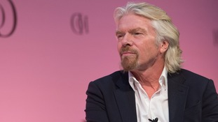 Richard Branson, founder of the Virgin brand, is one place below Mike Ashley with £3.6 billion