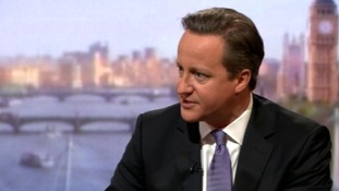 David Cameron defended his Education Minister on The Andrew Marr Show.